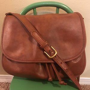 Coach vintage Shoulder Bag brown leather No. 4050